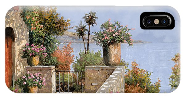 Red iPhone X Case - Silenzio by Guido Borelli