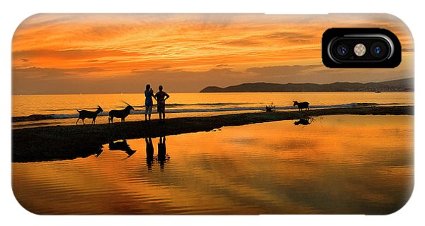 Silhouette And Amazing Sunset In Thassos IPhone Case