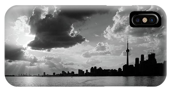 Silhouette Cn Tower IPhone Case