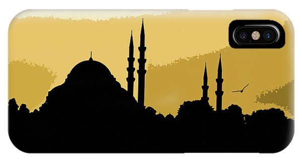 Silhouette Of Mosques In Istanbul IPhone Case