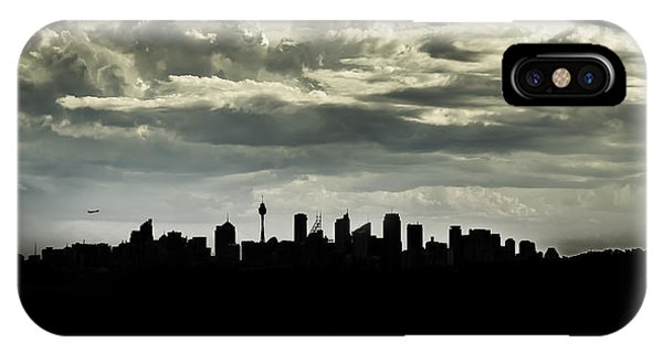 Silhouette Of Sydney IPhone Case