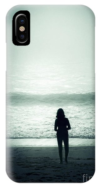 Silhouette On The Beach IPhone Case