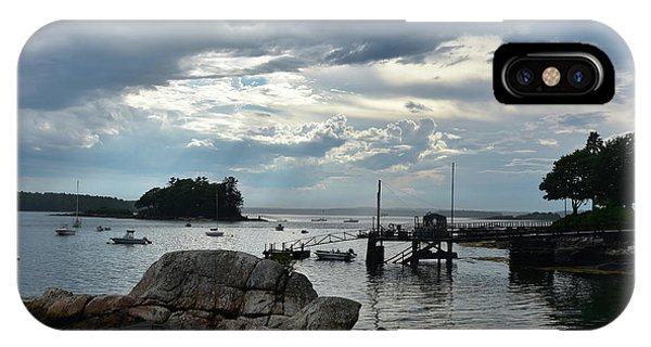 Silhouetted Views From Bustin's Island In Maine IPhone Case