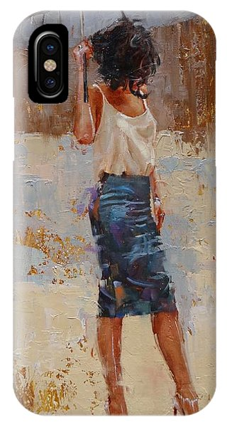 Umbrella iPhone Case - Silk by Laura Lee Zanghetti