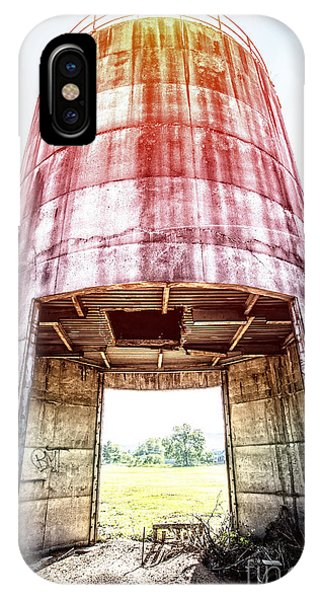 New England Barn iPhone Case - Silo Sunflare by Edward Fielding