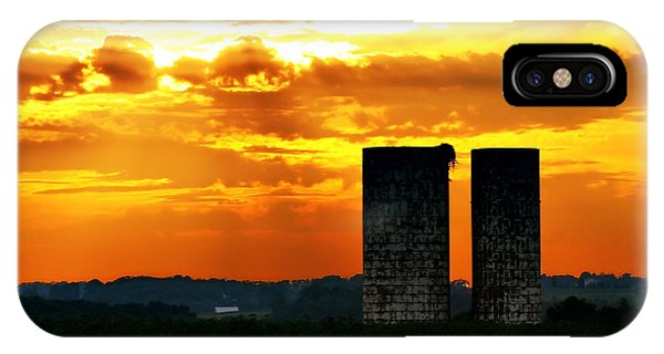 Silos At Sunset IPhone Case