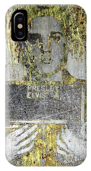 Silver And Gold Elvis Presley Mug Shot IPhone Case