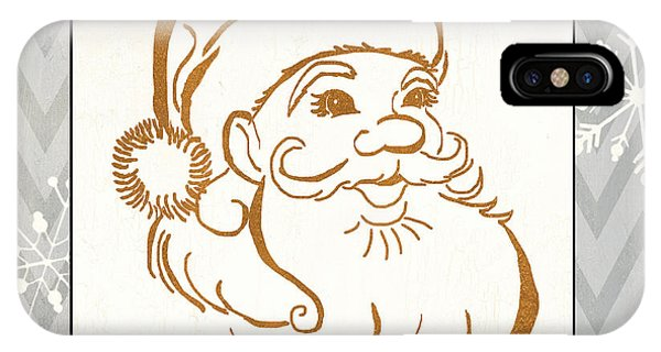 Santa Claus iPhone Case - Silver And Gold Santa by Debbie DeWitt