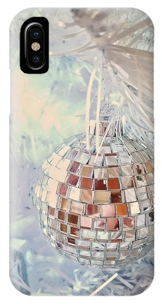 Silver And White Christmas IPhone Case