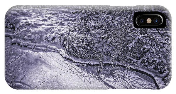 Silver Brook In Winter IPhone Case