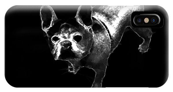 French Bull Dog iPhone Case - Silver Frenchie by Heather Joyce Morrill
