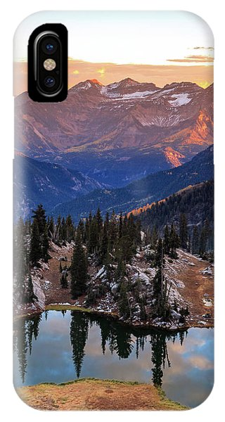 Silver Glance Lake Ig Crop IPhone Case