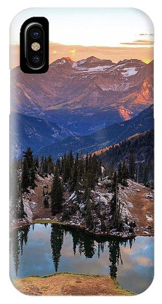 Silver Glance Lake Ig Crop IPhone Case