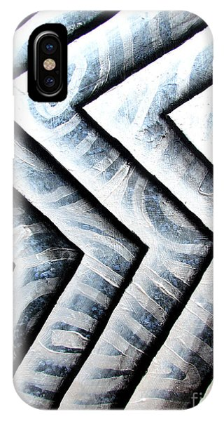 Silver Glass Waves Study 1  IPhone Case