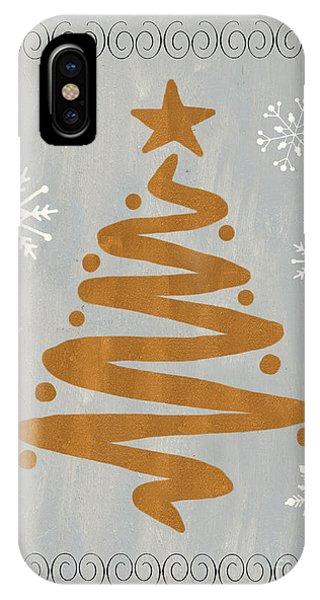 Present iPhone Case - Silver Gold Tree by Debbie DeWitt