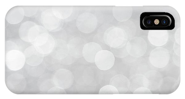 Silver Grey Bokeh Abstract IPhone Case