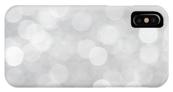 Silver Grey Bokeh Abstract IPhone Case