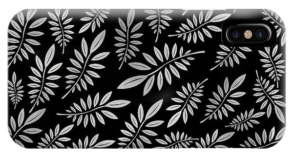 Plants iPhone Case - Silver Leaf Pattern 2 by Stanley Wong