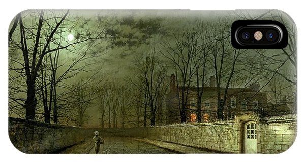 Cloud iPhone Case - Silver Moonlight by John Atkinson Grimshaw
