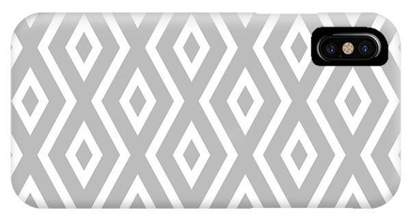 Illusion iPhone Case - Silver Pattern by Christina Rollo