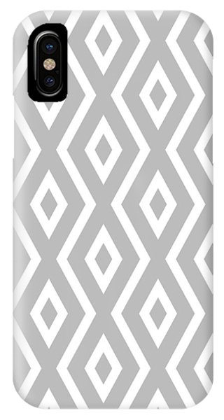Geometric iPhone Case - Silver Pattern by Christina Rollo