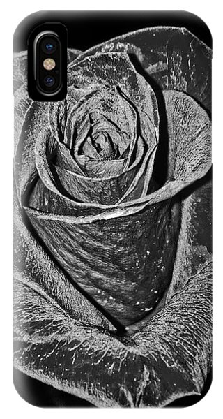 Silver Rose IPhone Case