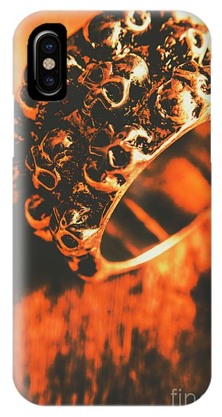 Steel iPhone Case - Silver Skulls Pirate Ring by Jorgo Photography - Wall Art Gallery