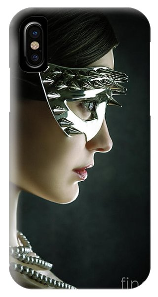 IPhone Case featuring the photograph Silver Spike Beauty Mask by Dimitar Hristov
