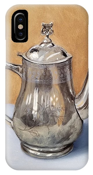Silver Teapot IPhone Case