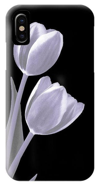 Silver Tulips IPhone Case