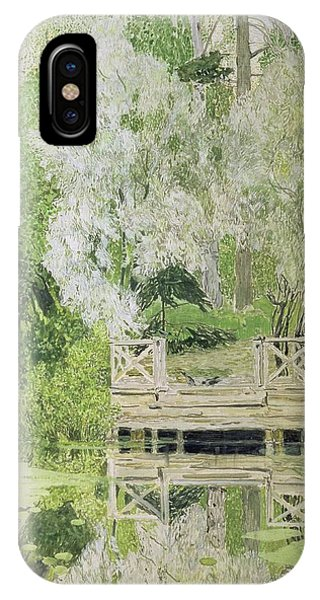 Silver White Willow IPhone Case