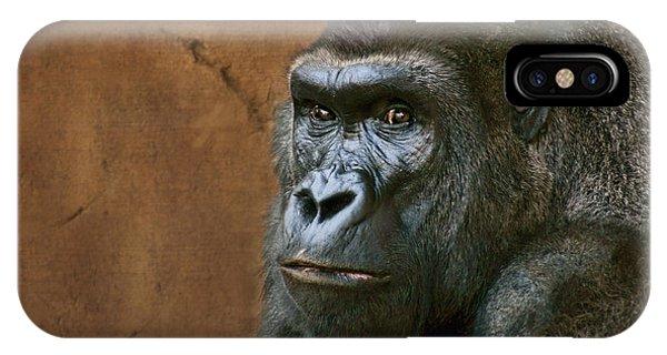 Silverback Stare - Gorilla IPhone Case