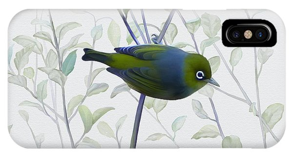 IPhone Case featuring the painting Silvereye by Ivana Westin