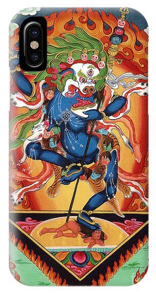 Simhamukha - Lion Face Dakini IPhone Case