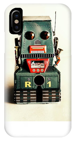 Simple Robot From 1960 IPhone Case