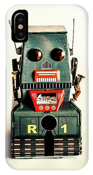 1950s iPhone Case - Simple Robot From 1960 by Jorgo Photography - Wall Art Gallery