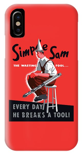 Simple iPhone Case - Simple Sam The Wasting Fool by War Is Hell Store