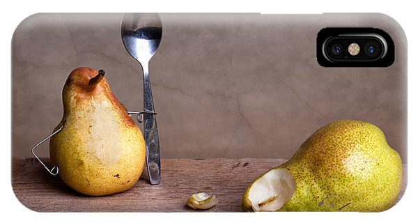 Pear iPhone Case - Simple Things 14 by Nailia Schwarz