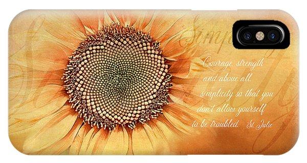 Sunflower iPhone Case - Simplicity by Terry Davis