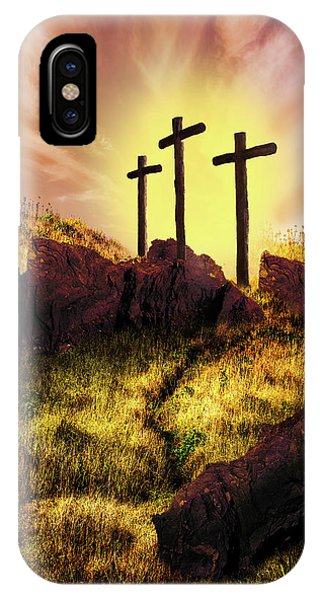 Old Rugged Cross iPhone Case - Simply The Old Rugged Cross  by Debra and Dave Vanderlaan