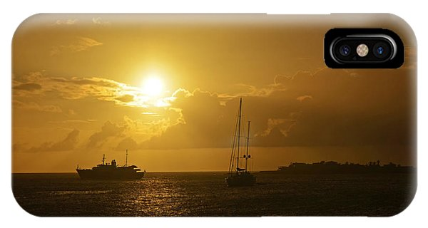 St. Maarten iPhone Case - Simpson Bay Sunset Saint Martin Caribbean by Toby McGuire