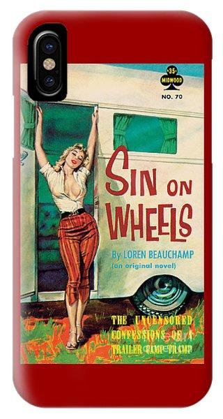 Sin On Wheels IPhone Case