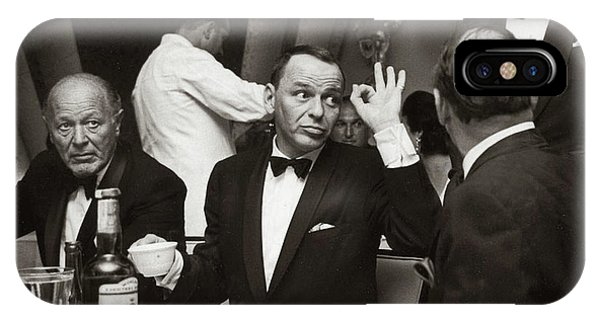 Sinatra And Ed Sullivan At The Eden Roc - Miami - 1964 IPhone Case