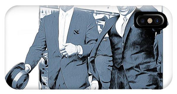 Las Vegas iPhone X Case - Sinatra And Martin by Greg Joens