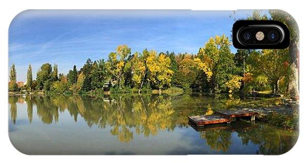 Germany iPhone Case - Sindelfingen Germany Lake Klostersee Panorama by Matthias Hauser