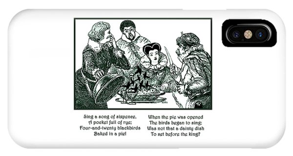 Sing A Song Of Sixpence Nursery Rhyme IPhone Case