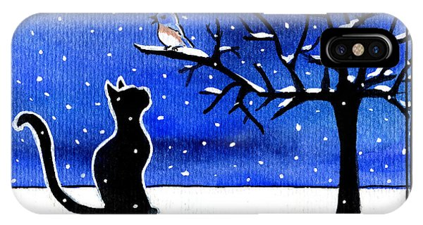 Sing For Me - Black Cat Card IPhone Case
