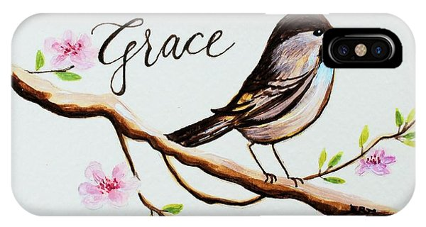 Garden iPhone X Case - Sing Grace by Elizabeth Robinette Tyndall