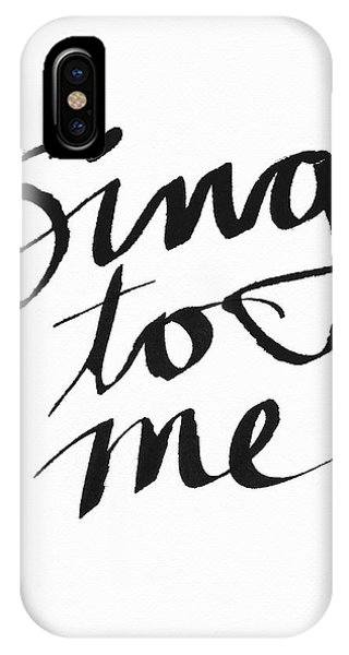 Song iPhone Case - Sing To Me- Art By Linda Woods by Linda Woods