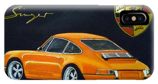 IPhone Case featuring the painting Singer Porsche by Richard Le Page